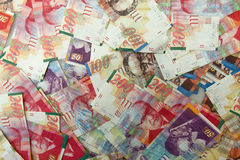 Israeli shekel notes background Royalty Free Stock Photography