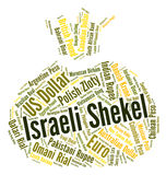 Israeli Shekel Represents Foreign Exchange And Currencies Royalty Free Stock Photo