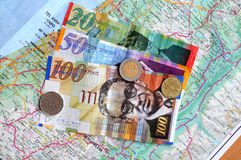 Israeli shekels currency Stock Photography