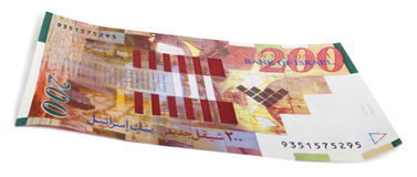 Isolated 200 Israeli Shekels Bill Royalty Free Stock Images