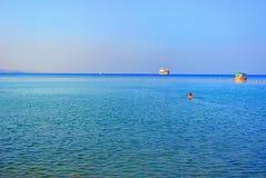 Seascape. Mediterranean Sea. The beach of Tel Aviv. Israel Stock Photos