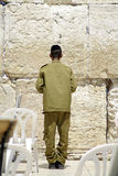 Israeli soldier praying Royalty Free Stock Photo