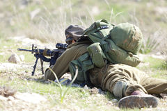 Israeli soldier training Royalty Free Stock Photography