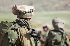 Israeli soldier training Royalty Free Stock Photo