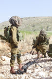Israeli soldier training Royalty Free Stock Image