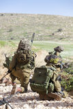 Israeli soldier training Stock Images