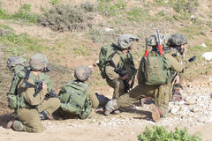 Israeli soldier training Stock Photography