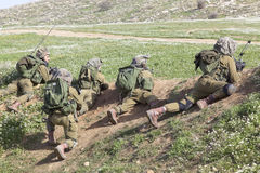 Israeli soldier training Royalty Free Stock Photos