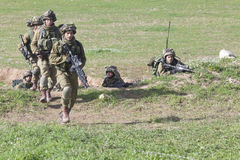 Israeli soldier training Royalty Free Stock Images