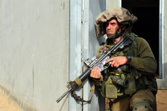 Israeli soldier during Urban Warfare Stock Image
