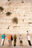 Israeli Soldier at Western Wall Stock Images