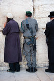 Israeli Soldier at Western Wall Stock Photography