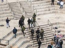 Israeli soldiers apprehend terrorist. Jerusalem. Israel. Royalty Free Stock Photography