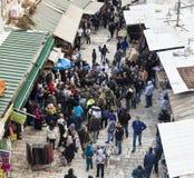 Israeli soldiers apprehend terrorist. Jerusalem. Israel. Royalty Free Stock Image