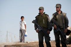Israeli Soldiers in East Jerusalem Stock Photos