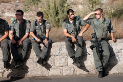 Israeli Soldiers in East Jerusalem Stock Image
