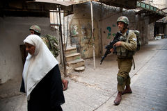 Israeli Soldiers in Hebron Royalty Free Stock Photo