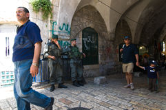 Israeli Soldiers in Jerusalem Royalty Free Stock Photos