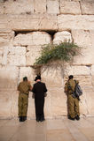 Israeli Soldiers at Jerusalem's Western Wall Royalty Free Stock Images