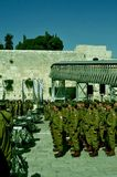 Israeli soldiers at kotel royalty free stock photo