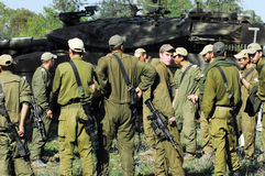 Israeli Soldiers Prepared for Ground Incursion in Gaza Strip Royalty Free Stock Photography