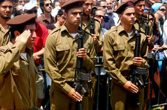Israeli soldiers with riffles Stock Photography