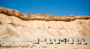 Israeli Soldiers on shooting ground Royalty Free Stock Images