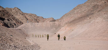 Israeli Soldiers on shooting ground Royalty Free Stock Image