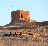 Israeli Soldiers on Top of Masada Fortress Royalty Free Stock Photography