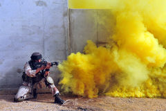 Israeli soldiers during Urban Warfare Exercise Stock Images