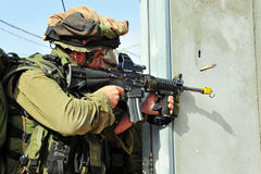 Israeli soldiers during Urban Warfare Exercise Royalty Free Stock Image