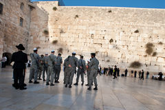 Israeli Soldiers at the Western Wall Royalty Free Stock Images