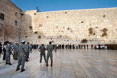 Israeli Soldiers at the Western Wall royalty free stock photography