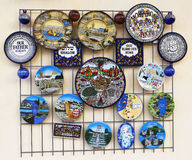 Israeli Souvenirs on display in Haifa, Israel Royalty Free Stock Photos