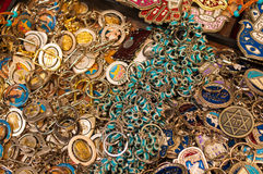 Israeli souvenirs. Lots of metal israeli souvenirs Stock Image