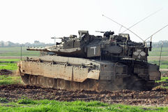 Israeli tank near Gaza strip Royalty Free Stock Photo