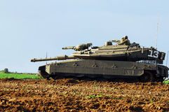 Israeli tank near Gaza strip Royalty Free Stock Photography