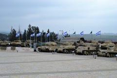 Israeli tanks at the Israeli Tank museum in Latrun, Israel stock images