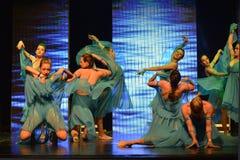 Israeli teen ballet group dancers. At contest Stars Of The Dance in Israel Yagur stock photo