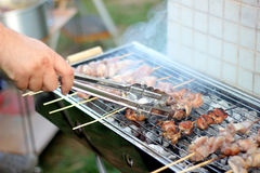 Israeli traditional holiday barbeque. Traditional barbeque on Israeli independence day or 33 omer holiday royalty free stock image
