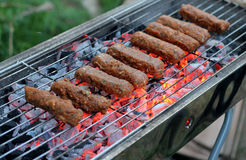 Israeli traditional holiday barbeque. Traditional barbeque on Israeli independence day or 33 omer holiday royalty free stock images