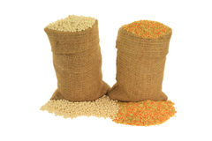 Israeli and Tricoloured Couscous Royalty Free Stock Images