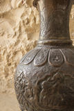 Israeli Vase, close up detail. Pottery with intricate carvings and designs Royalty Free Stock Image