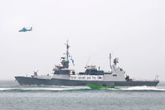 Israeli warship in the parade. Stock Photography