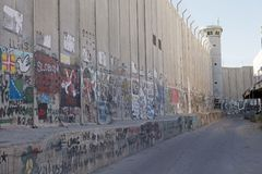 Israeli West bank barrier Royalty Free Stock Photography