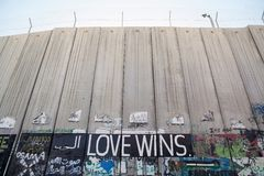 Israeli West bank barrier Royalty Free Stock Image
