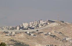 Israeli West Bank barrier. Near Bethlehem, Israel stock photo