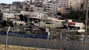 Israeli West Bank Wall stock video footage
