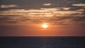 Israeli Winter Sunset at Apollonia royalty free stock photography