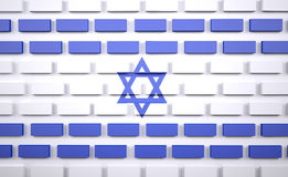 Israelian flag as a brick wall, border protection concept Stock Photography